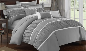 Chic Home Pleated & Ruffled Bed-in-a-Bag Comforter Set (10-Piece)