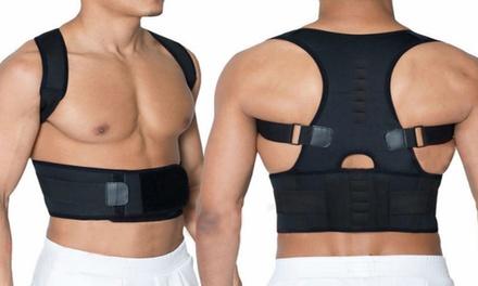 Geradehalter mit Lendenunterstützung zur Haltungskorrektur von Rücken und Schulter mit 6 Bio-Magneten : 12,50 €
