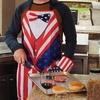 Independence Day Patriotic BBQ Apron and Mitt Set (2-Piece)
