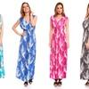 Women's Printed Sleeveless Maxi Dress