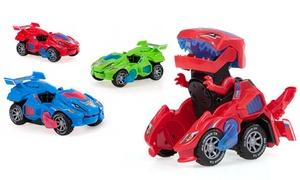 Jouet dinosaure transformable en voiture