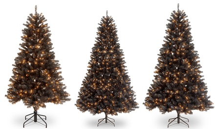 Black Spruce Halloween Artificial Tree with Lights