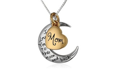 Family I Love You To The Moon and Back Necklace