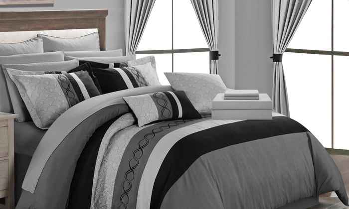 Up To 81% Off on Didith Comforter Set (24-Piece) | Groupon Goods