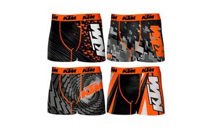 Pack 4 boxers KTM en microfibre