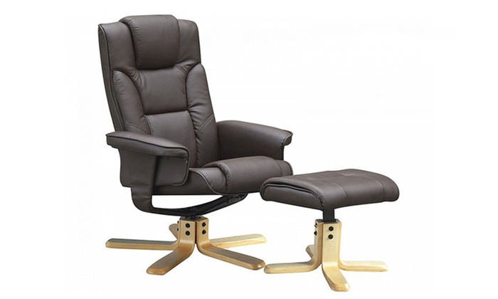 Groupon Goods Global GmbH: Glider Recliner Chair with a Footstool for £94.99 With Free Delivery