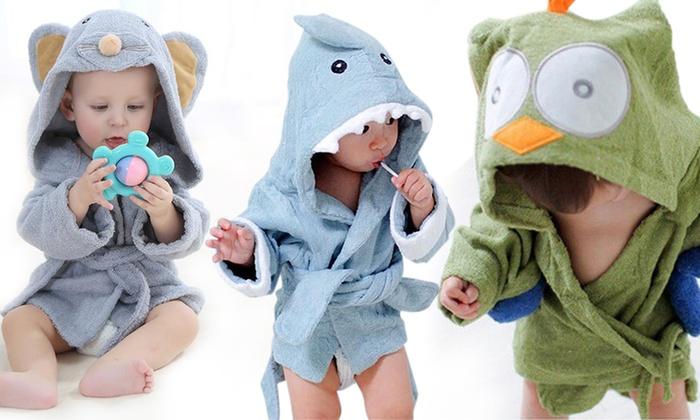 b9ce1cfc31 Cute! Animal-Themed Baby Bath Robe
