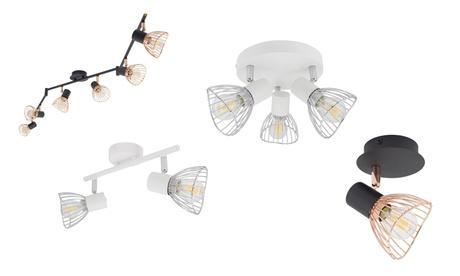 Lámpara de techo orientable Jaula de hasta 6 focos