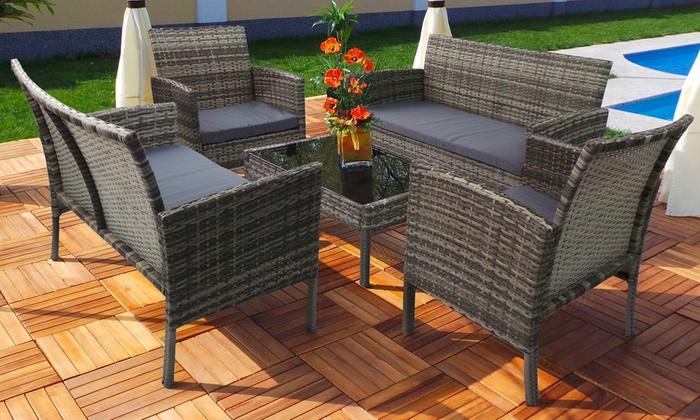 Salon de jardin Rio 2 tailles | Groupon Shopping