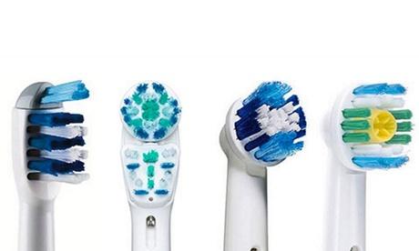 4, 8, 12 oder 16 Ersatzzahnbürstenköpfe kompatibel mit elektrischen Zahnbürsten von Oral B im Modell