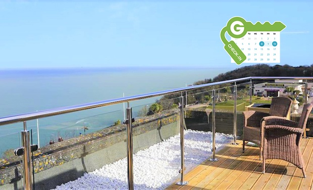 Babbacombe Bay Hotel - Torquay: Torquay: Classic Double or Classic Double Sea View Room for 2 with Breakfast and Afternoon Tea at 5* Babbacome Bay Hotel