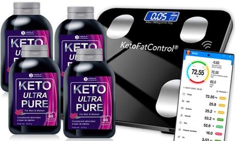 Keto Ultra Pure Slimming 4 meses u 6 meses con su escala conectada ofrecida