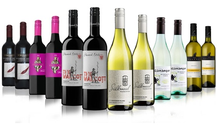 $79 Bottles of Premium Red and White Mixed Case Including 4 Bottles of 4.5 Star Silkwood Winery Don't Pay $399