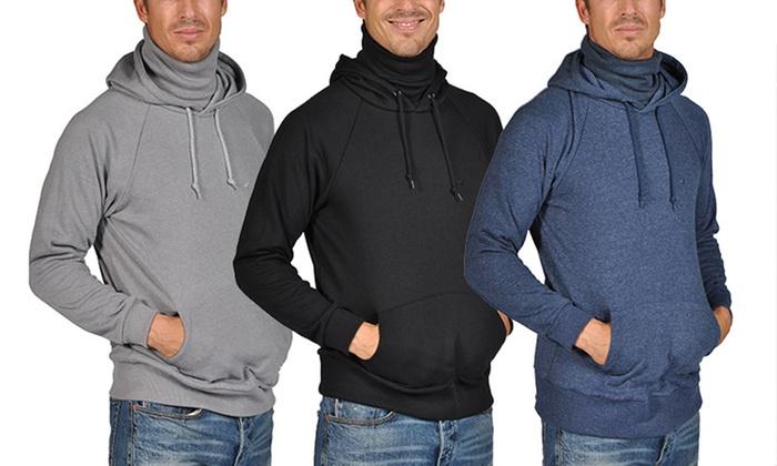 Men's Long-Sleeved Kangaroo Pocket Hoodie