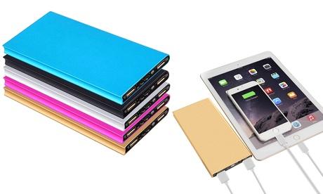Powerbank ultrasottile 20.000 mAh a ricarica rapida e con doppia porta USB, disponibile in 5 colori