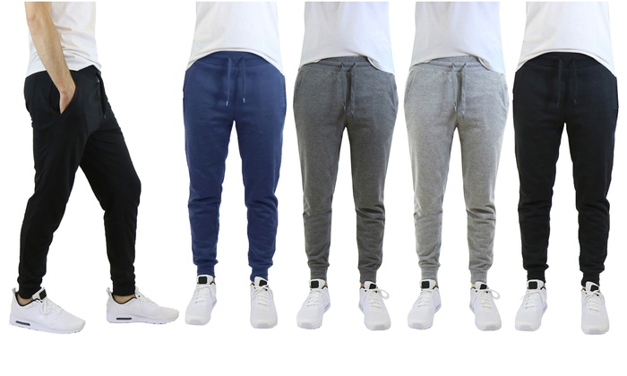 a49c1bd32161 Men s Slim Fit Fleece Jogger Sweatpants with Zipper Pockets