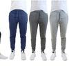 Men's Slim Fit Fleece Jogger Sweatpants with Zipper Pockets