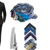 Braveman Men's 2-Piece Slim-Fit Suits with Free Accessories (50Lx44W)