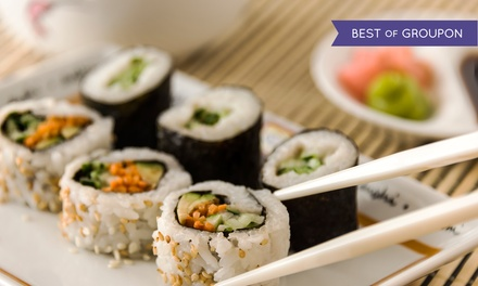 Sushi Dinner for Two or Four with Appetizers, Sushi Rolls, and Dessert at Umi Sushi Bar & Grill (Up to 38% Off)