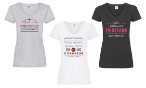 Lot de 3 tee-shirts à messages