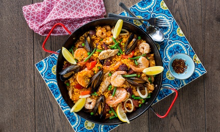Paella or Main Dish with Choice of Drink for Two or Four at La Tasca, Nine Locations (Up to 52% Off)