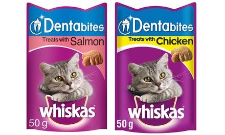 Pack of Eight 50g Whiskas Dentabites Cat Treats