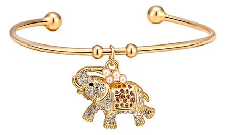 1 o 2 pulseras con colgante de elefante con cristales de Swarovski® de Philip Jones