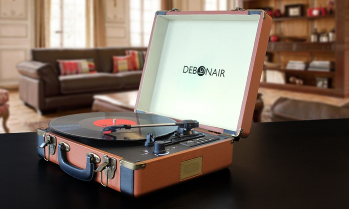 debonair retro turntable record player