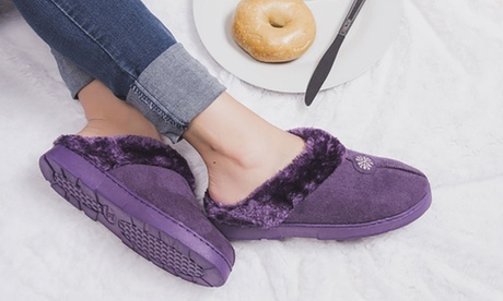 Muk Luks Women's Clogs with Faux-Fur Lining