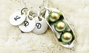 JC Jewelry Design: Peas in a Pod Sterling Silver Necklace from JC Jewelry Design (Up to Half Off). Four Options Available.