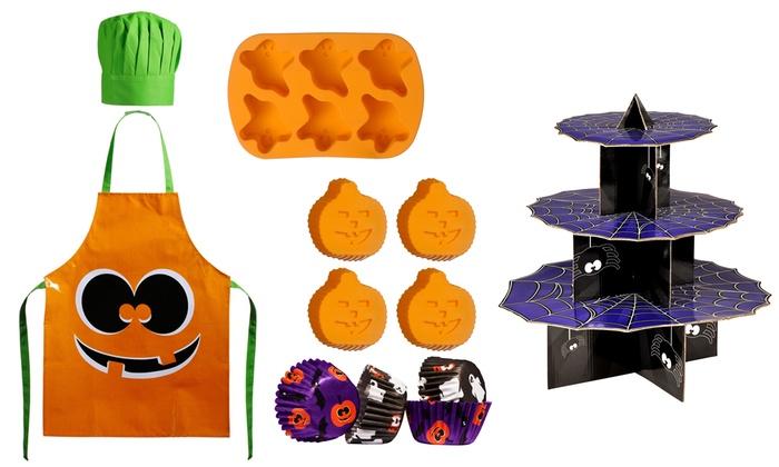 kids halloween baking set