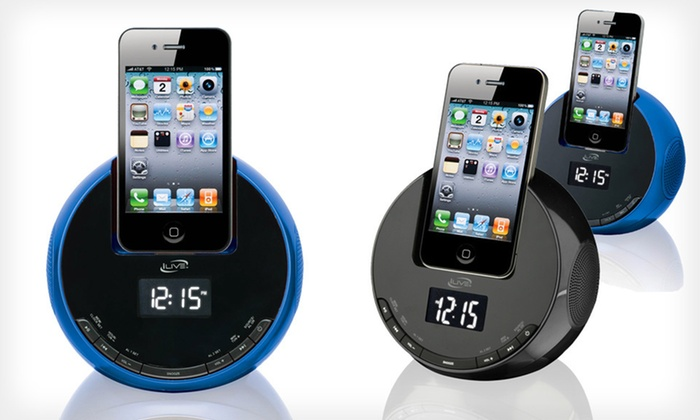 iLive Clock Docks: $24.99 for an iLive Clock Dock in Blue or Black ($59.99 List Price). Free Shipping and Free Returns.