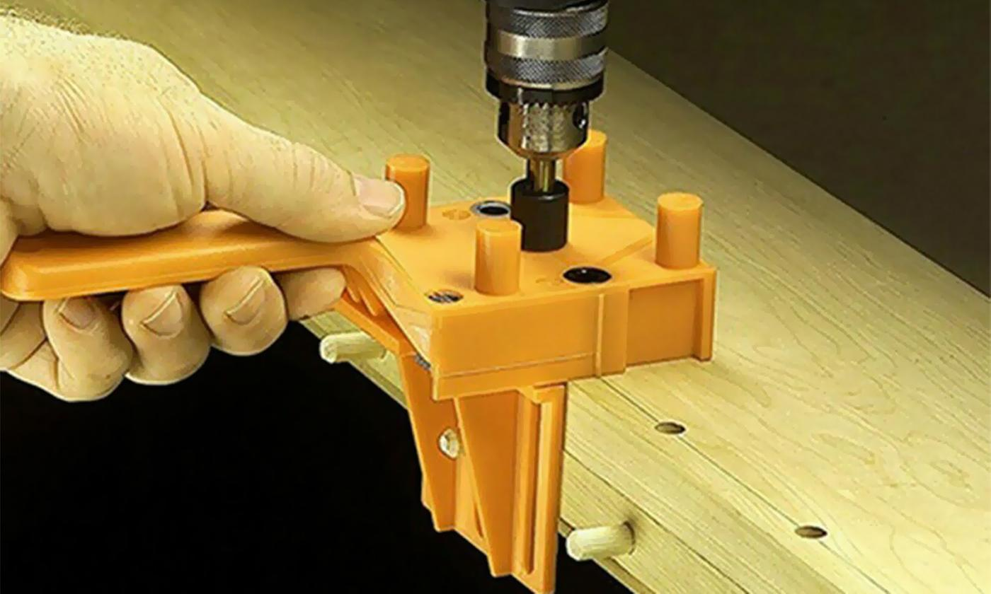 One or Two Wood Guide Dowel Drill Hole Jigs