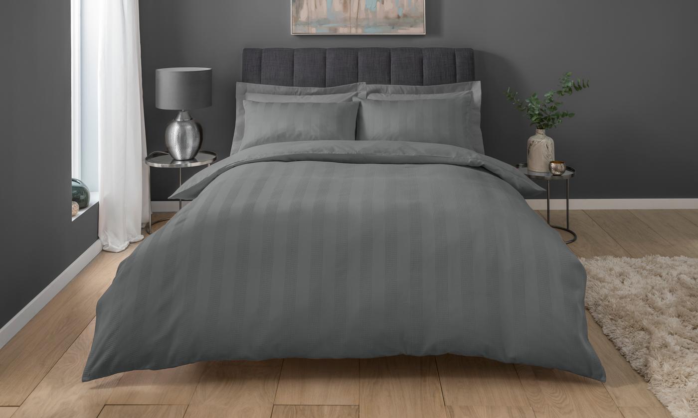 PieridaeWaffle Stripe Duvet Set