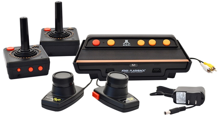atari flashback 7 deluxe console groupon goods. Black Bedroom Furniture Sets. Home Design Ideas