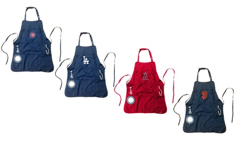 Team Sports America MLB Five-Pocket Grilling Apron with Bottle Opener