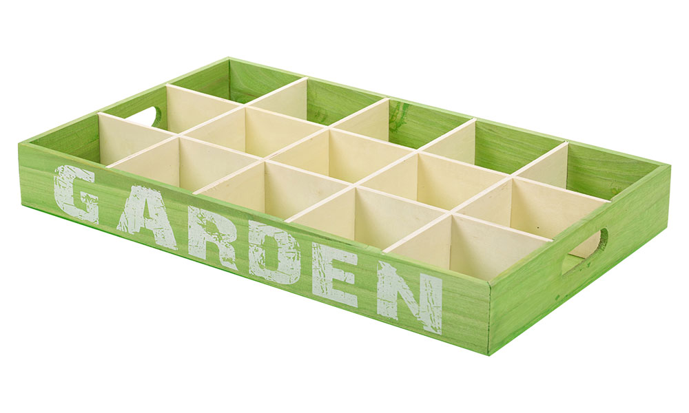 15-Section Wooden Potting Trays From £5.60