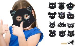 12 ou 24 masques à décorer pour enfants