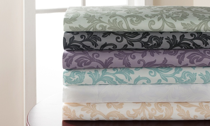 Clearance: 600TC Cotton Rich Kendall Printed Sheet Set (6-Piece) : 600TC Cotton Rich Kendall Printed Sheet Set (6-Piece)