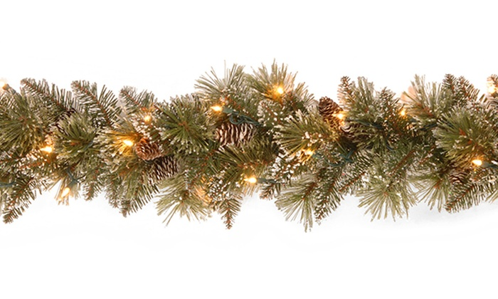9' Lighted Christmas Garland | Groupon Goods