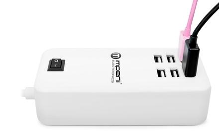 1 o 2 cargadores universales de color blanco con 6 puertos USB de 30 W de potencia
