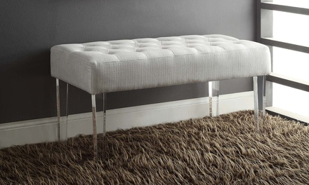 ella acrylic leg bench groupon goods. Black Bedroom Furniture Sets. Home Design Ideas