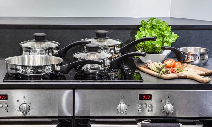 Batterie de cuisine en acier inoxydable 5 pi ces tower - Batterie de cuisine en acier inoxydable ...