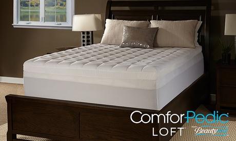 "ComforPedic Loft from BeautyRest 2.5"" Foam and Fiber Mattress Topper 385f44fa-68c3-11e7-879b-002590604002"