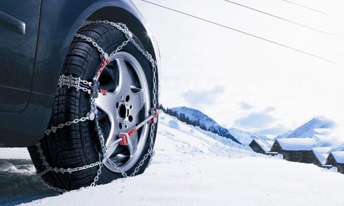 Catene da neve in acciaio per auto