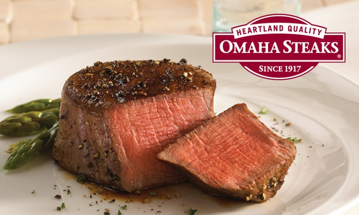 Omaha Steaks Inc. **NAT**: Four, Six, or Eight Filet Mignons with Four Caramel Apple Tartlets from Omaha Steaks (Up to 62% Off)