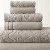 Damask Jacquard Embellished Border Towel Set (6-Piece)