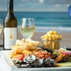 Seafood Plate + Bottle of Wine