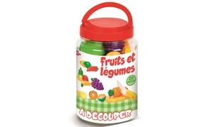 Baril fruits et légumes à découper enfants
