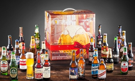 International Craft Beer Advent Calendar Including 24 Beers in 330ml Bottles and Tasting Glass With Free Delivery